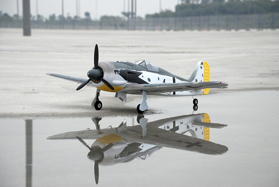 Top RC FW190 RTF version(with flaps and electronic retractable landing gear) B color - SN Hobbies