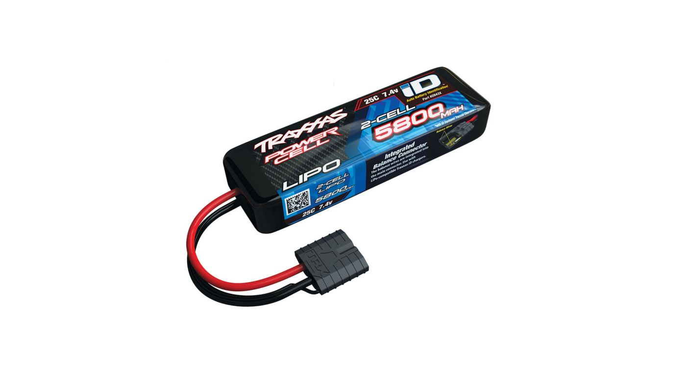 Traxxas 7.4V 5800mAh 25C 2S LiPo Battery with TRA ID - SNHE