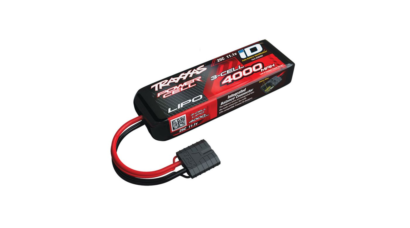 Traxxas 11.1V 4000mAh 25C 3S LiPo Battery with TRA ID - SNHE