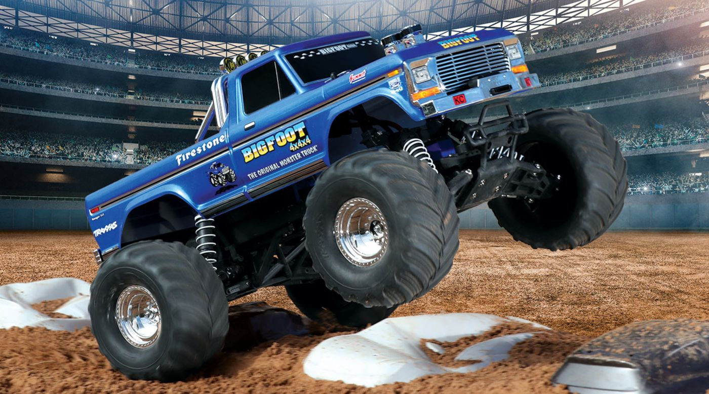 Traxxas 1/10 Bigfoot Classic 2WD Monster Truck RTR, Blue - SNHE