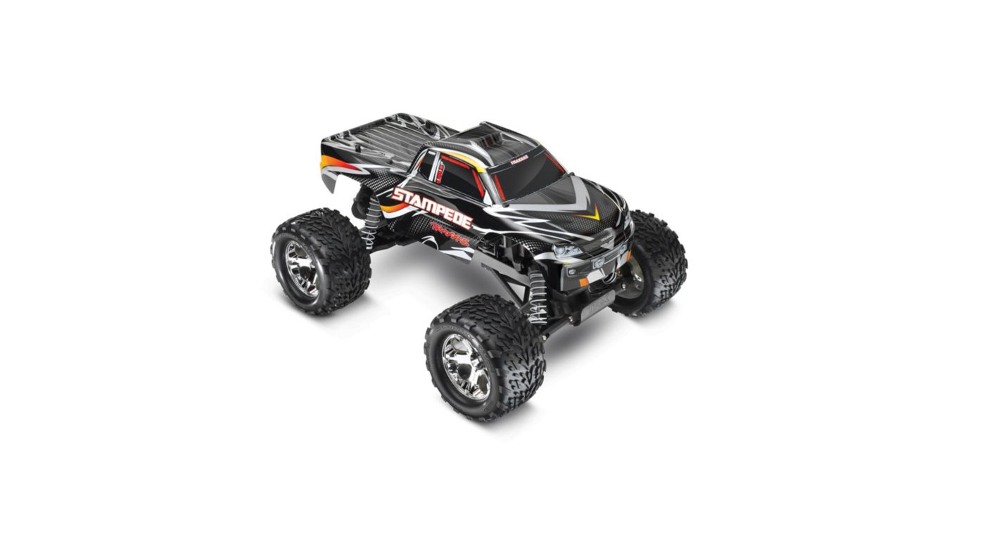 Traxxas 1/10 Stampede Monster Truck RTR with ID, 2.4GHz, Black - SNHE