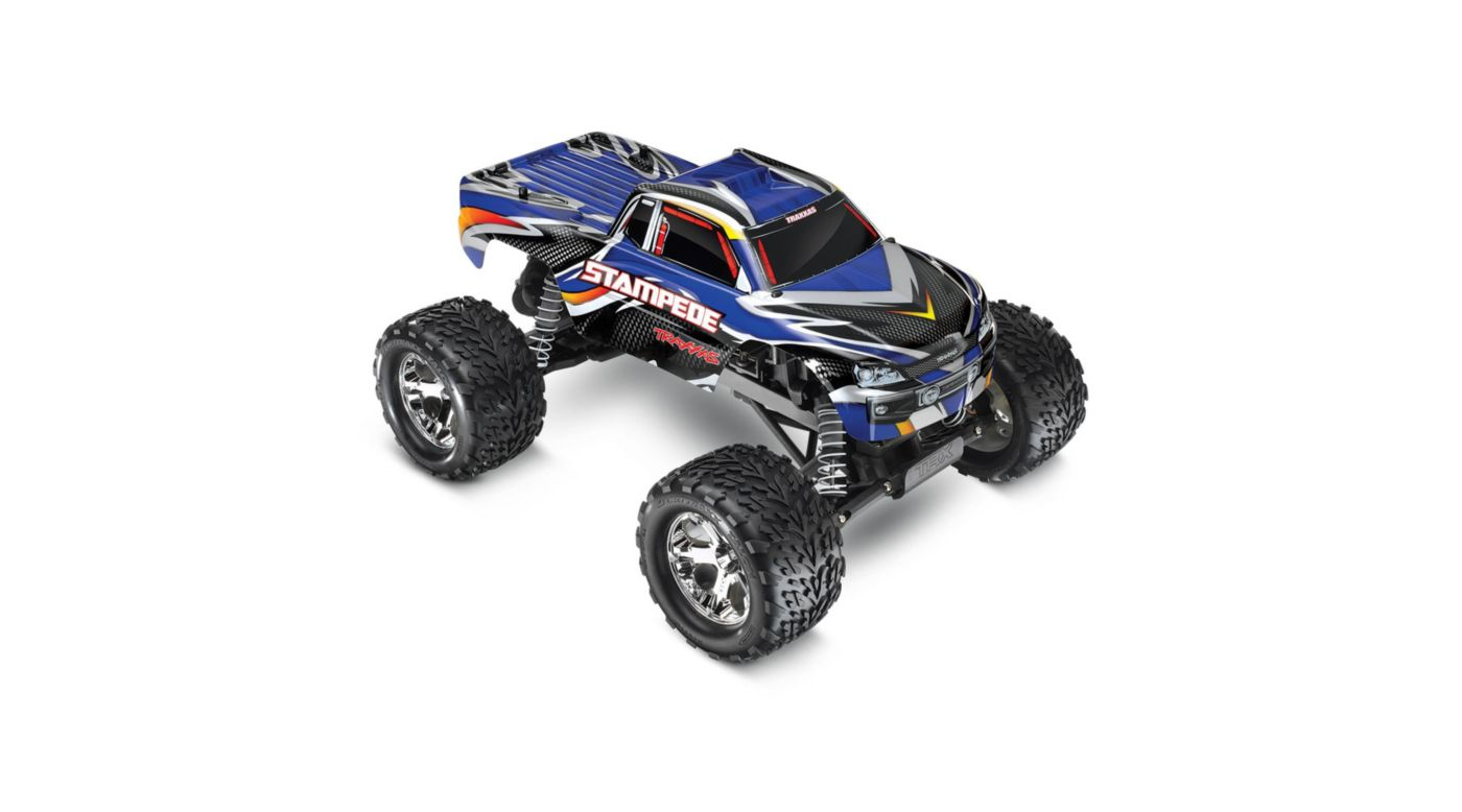 Traxxas 1/10 Stampede Monster Truck RTR with ID, 2.4GHz, Blue - SNHE