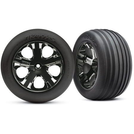 All-Star Blk Chrome Whls w/ Alias Tires (2),FR:VXL - SN Hobbies