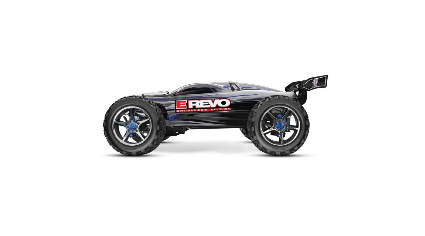 Traxxas 1/10 E-Revo Brushless RTR with TQi & Module, Silver - SNHE