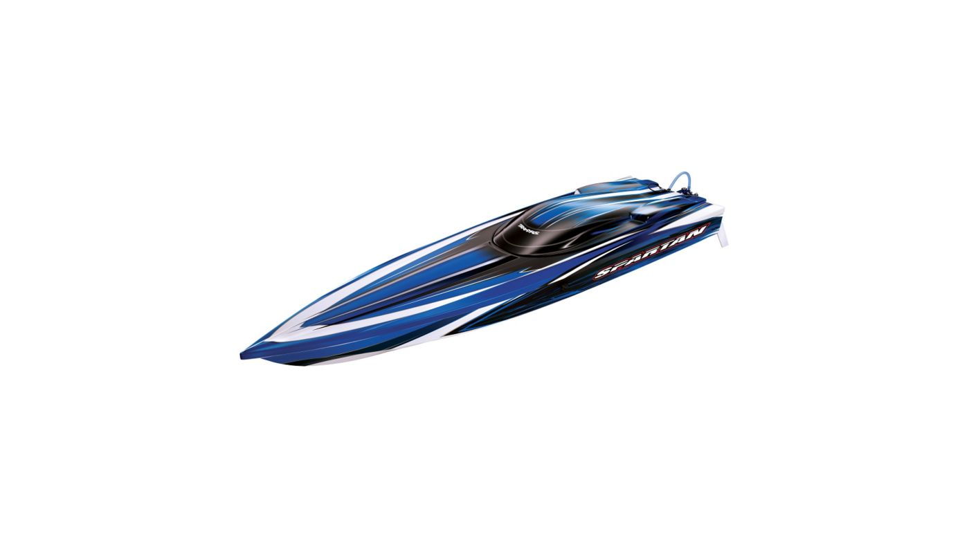 "Traxxas Spartan Brushless 36"" Race Boat with TQi 2.4GHz, Blue - SNHE"