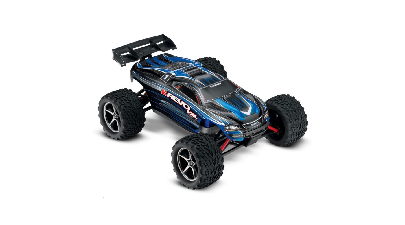 Traxxas 1/16 E-Revo 4WD VXL RTR with TQ 2.4GHz Radio, Blue - SNHE