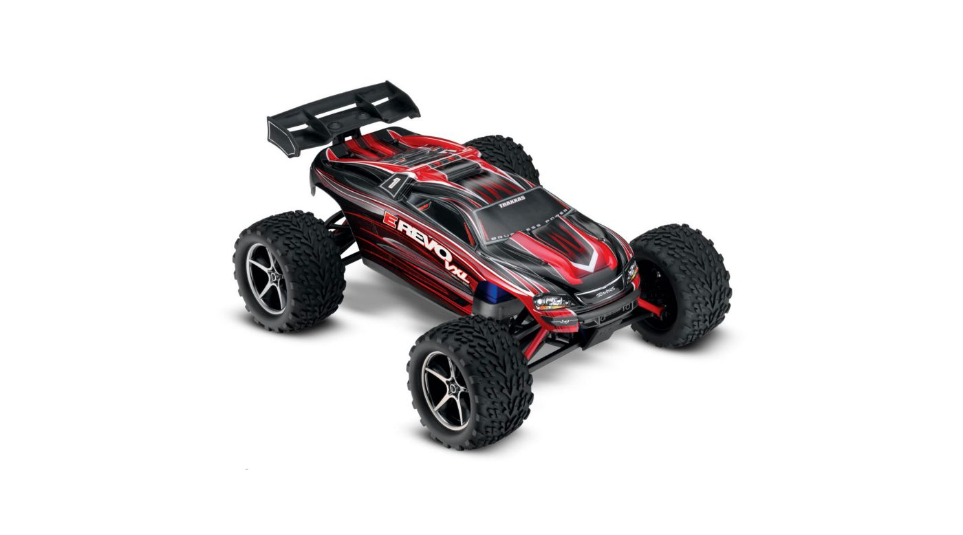 Traxxas 1/16 E-Revo 4WD VXL RTR with TQ 2.4GHz Radio, Red - SNHE