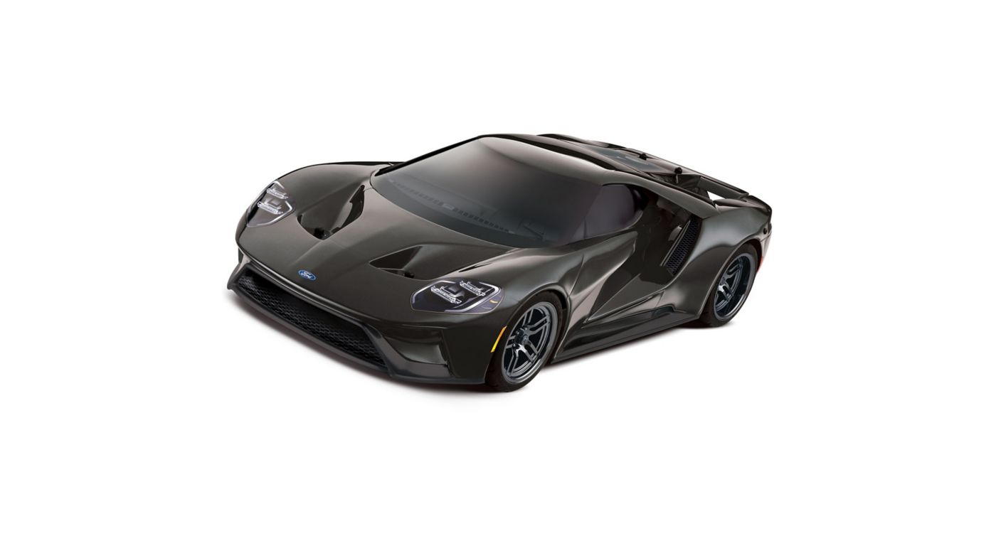 Traxxas 1/10 Scale Ford GT AWD Supercar RTR with XL-5 and TSM, Liquid Black - SNHE