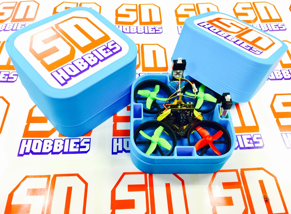 RL Tiny Whoop/Inductrix 3D Printed Carrying Case - <b><font color=&quot;Light Blue&quot;>LIGHT BLUE</font></b> - SNHE