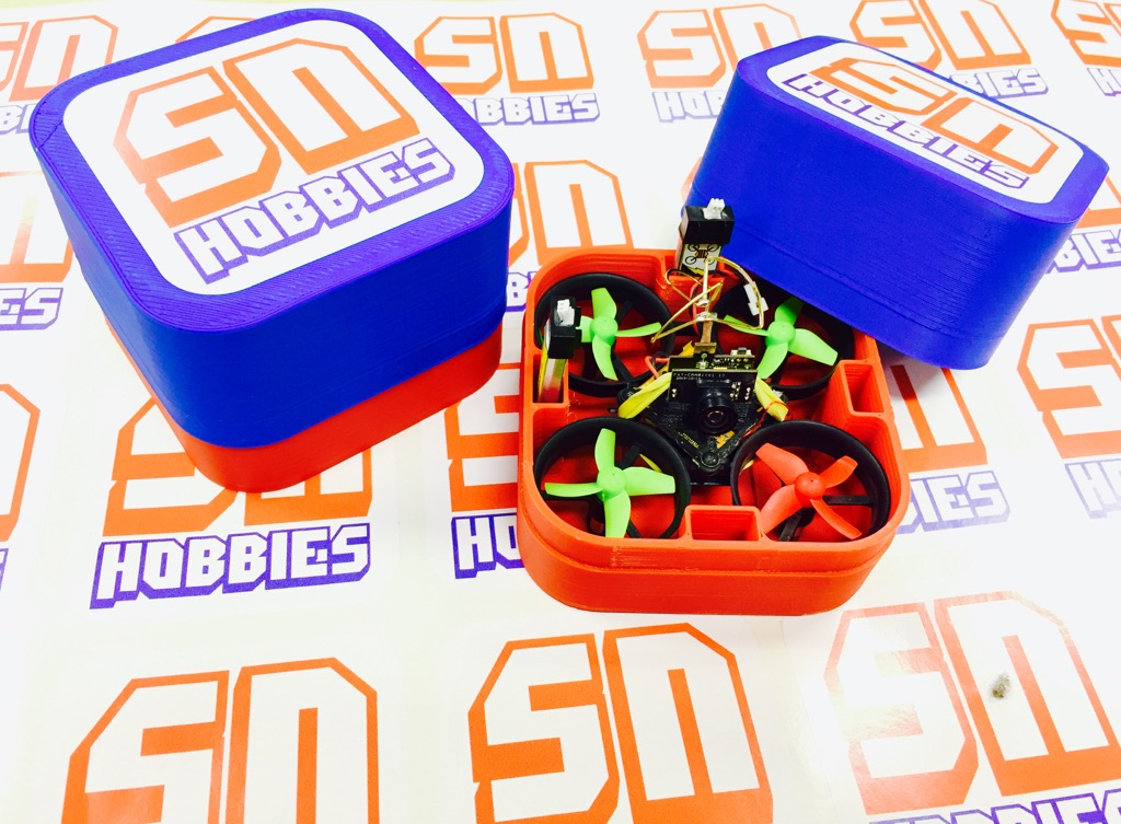 RL Tiny Whoop/Inductrix 3D Printed Carrying Case - <b><font color=&quot;blue&quot;>BLUE</font> Cap</b> - SNHE
