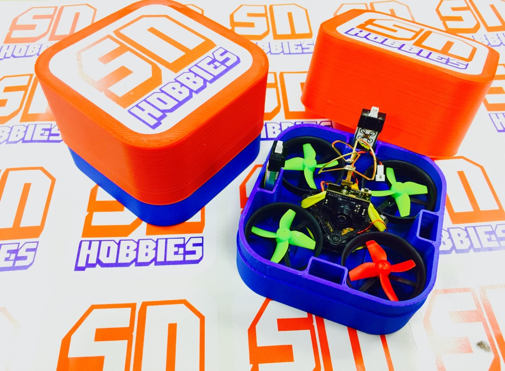 RL Tiny Whoop/Inductrix 3D Printed Carrying Case - <b><font color=&quot;red&quot;>RED</font> Cap</b> - SNHE
