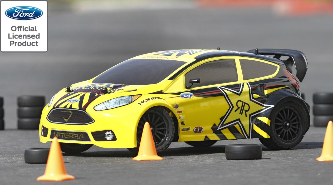 Vaterra 1/10 Ford Fiesta Rockstar RallyCross 4WD Car RTR with AVC� Technology - SNHE