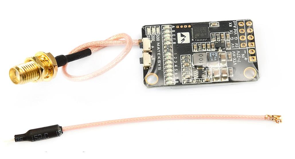 Matek 5.8G 40CH 25/200/500mW switchable Video Transmitter VTX-HV with 5V/1A BEC Output - SNHE