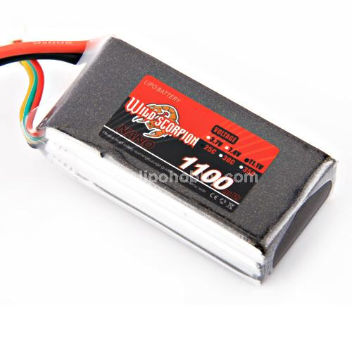 Wild Scorpion 3S 11.1V 1100mAh 25C Li-Po Nano Battery - SN Hobbies