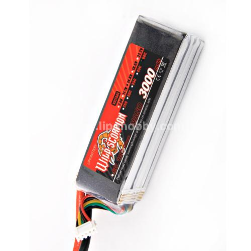 Wild Scorpion 4S 14.8v 3000mah 35C Li-Po Nano Battery - SN Hobbies