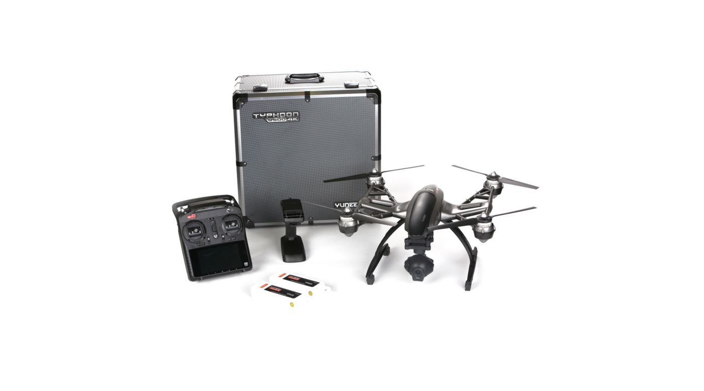 Yuneec Q500 4K RTF with ST10+, CGO3, 2 Battery, SteadyGrip, Case - SNHE