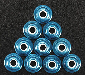 Associated Factory Team Locknut 3mm Blue (10) - SNHE