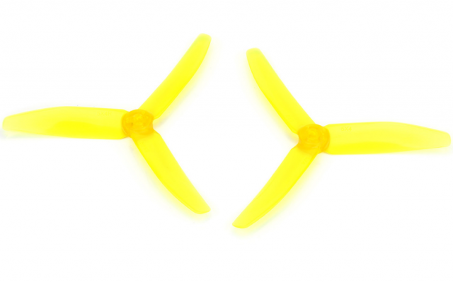 DYS 5040 3-Blade Translucent Props (CW/CCW) 1 Pair (Yellow) - SNHE