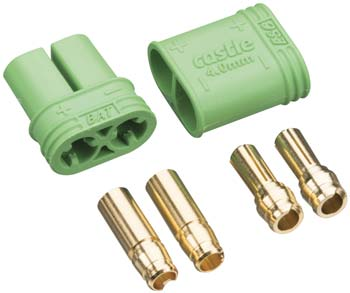 Castle Creations 4mm Polarized Bullet Connector Set - SNHE