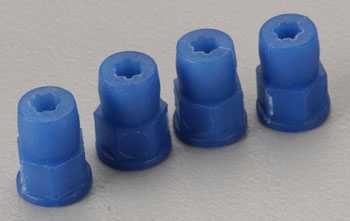 DuraTrax Shock Bushing Blue Evader ST (4) - SN Hobbies