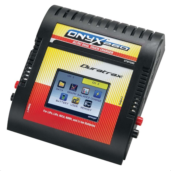 Duratrax Onyx 260 AC/DC Dual Touch Charger w/Balancing - SNHE