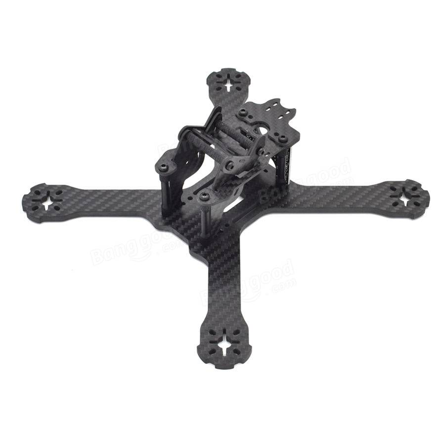 Realacc X210 Pro 214mm 3K Carbon Fiber FPV Racing Frame 4mm Frame Arm w/ LED Board 5V & 12V PDB - SNHE