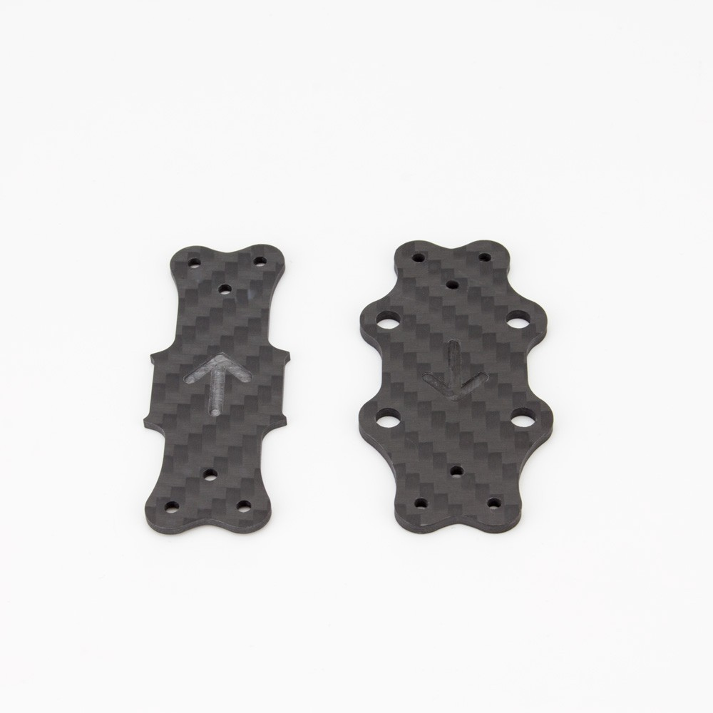 Babyhawk Race Parts - Carbon Mid Plate And Bottom Plate Pack - SNHE