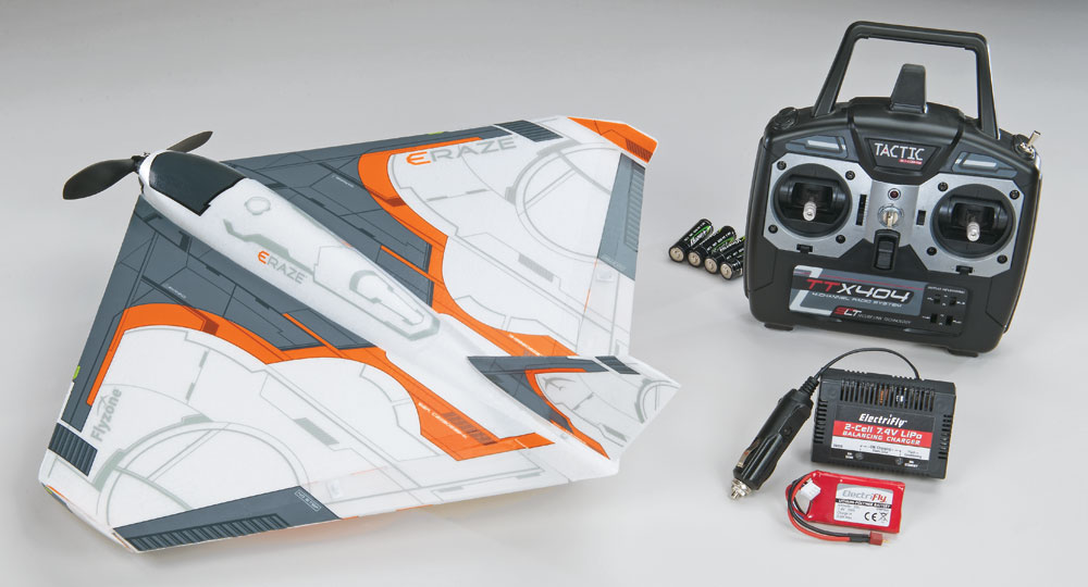 "Flyzone Eraze Brushless 2.4GHz RTF 18.1"" - SN Hobbies"