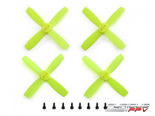 FURIOUSFPV HIGH PERFORMANCE 2035-4 PROPELLERS (NEON YELLOW 2CW & 2CCW) - SNHE