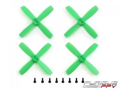 FURIOUSFPV HIGH PERFORMANCE 2435-4 PROPELLERS (NEON GREEN 2CW & 2CCW) - SNHE