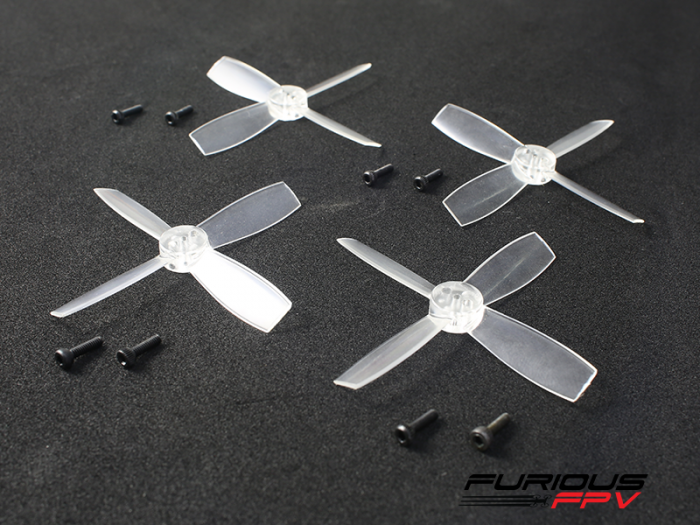 FURIOUSFPV HIGH PERFORMANCE 1935-4 PROPELLERS (TRANSPARENT 2CW & 2CCW) - SNHE