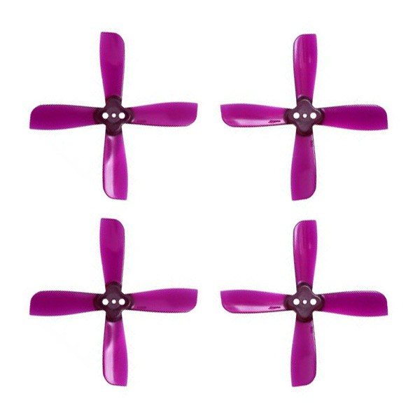 Gemfan <b>2035</b> 2X3.5X4 4 Blade 1.5mm Mounting Hole 2CW+2CCW FPV Racing Propeller - <font color=&quot;purple&quot;><b>Purple</b></font> - SNHE