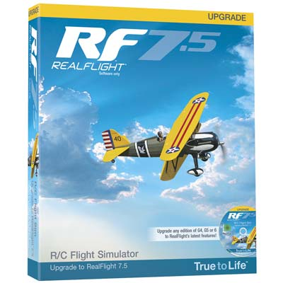 Great Planes RealFlight 7.5 Upgrade For G4 And Above - SNHE