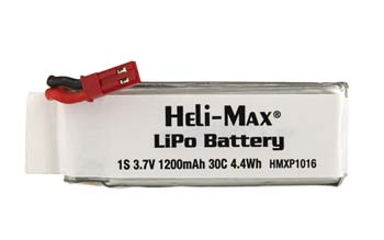 Helimax LiPo 1S 3.7V 1200mAh 230Si Quadcopter - SNHE