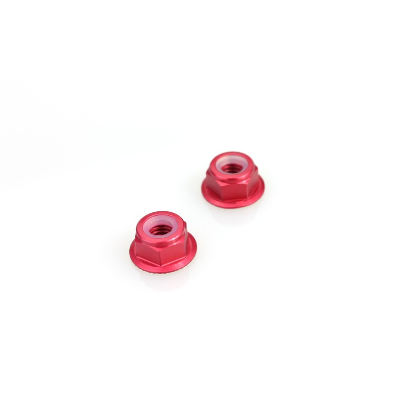 Emax Brushless Motor Aluminum Screws Nut For RS2205 RS2205S RS2306 - <b>(2 Pcs)</b> <font color=&quot;red&quot;><b>Red</b></font> - SNHE