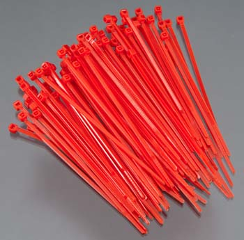 Integy Plastic Tie Wrap/Cable Tie Small Red (100) - SNHE