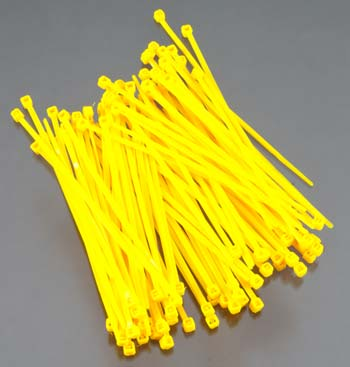 Integy Plastic Tie Wrap/Cable Tie Small Yellow (100) - SNHE
