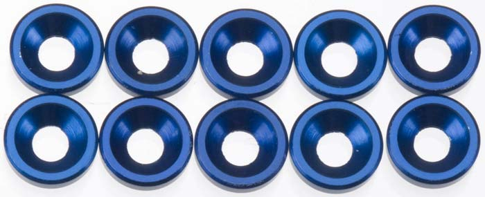 Associated Countersunk Washer Blue (10) - SNHE