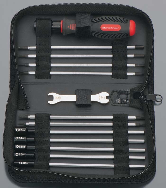 Duratrax 19-in-1 Tool Set w/Pouch For Traxxas - SNHE