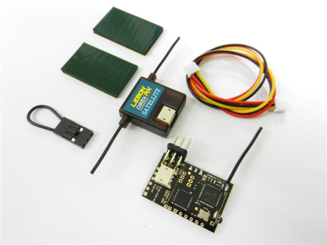 Lemon Rx DSMX Compatible PPM 8-Channel Receiver + Lemon DSMX Compatible Satellite with Failsafe - SNHE