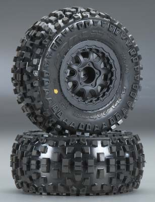 "Pro-Line Badlands SC 2.2""/3.0"" M2 Tires (2) Mounted: Rear 2WD Slash, F/R 4x4 Slash - SNHE"