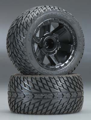 "Pro-Line Road Rage 2.8"" Street Truck Tires (2) Mounted - SNHE"