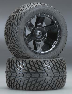 "Pro-Line Road Rage 2.8"" Street Truck Tires (2) Mounted: 2WD Rear - SNHE"