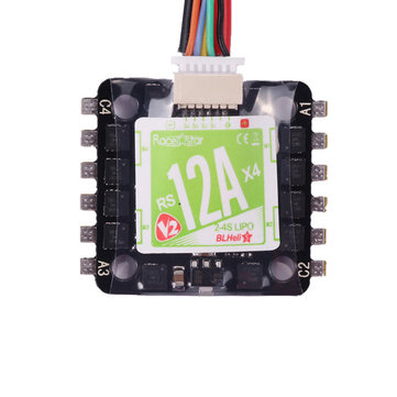 Racerstar 20x20mm Mini RS12Ax4 12A Blheli_S BB2 2-4S 4 in 1 Brushless ESC D-Shot Ready - SNHE