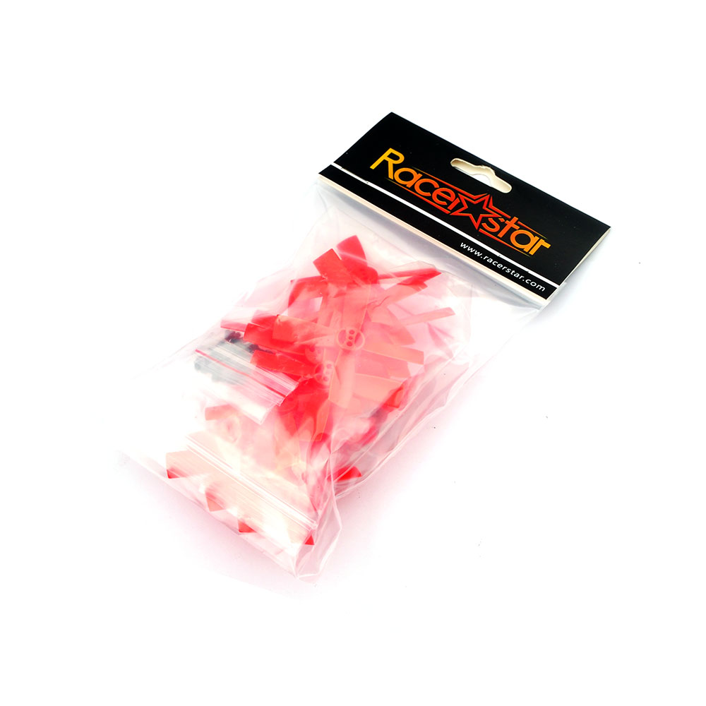 10 Pairs Racerstar 2035 50mm 4 Blade ABS Propeller 1.5mm Mounting Hole For 80-110 FPV Racing Frame - <b>RED</b> - SNHE