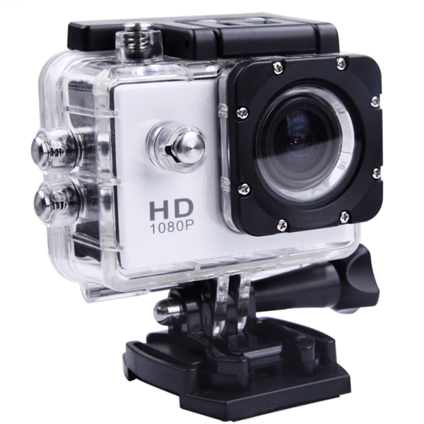 High Quality SJ4000-Style  Full HD Waterproof Action Camera - SILVER - SNHE