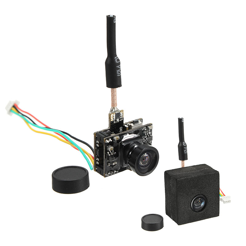 Eachine TX05 0.01/5/25/50/100/250mW Switchable w/ OSD AIO 5.8G 72CH VTX 600TVL NTSC Mini FPV Camera - SNHE