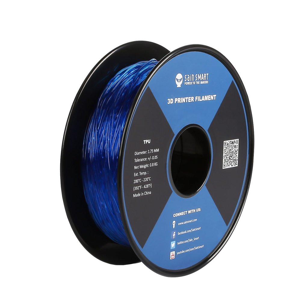 Sainsmart TPU Flexible Filament 1.75mm 0.8kg/1.76lb - Blue