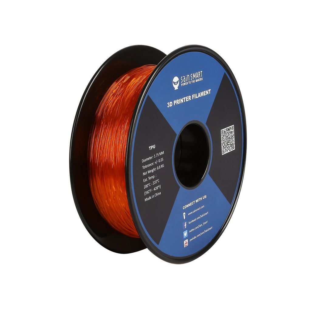 Sainsmart TPU Flexible Filament 1.75mm 0.8kg/1.76lb - Orange