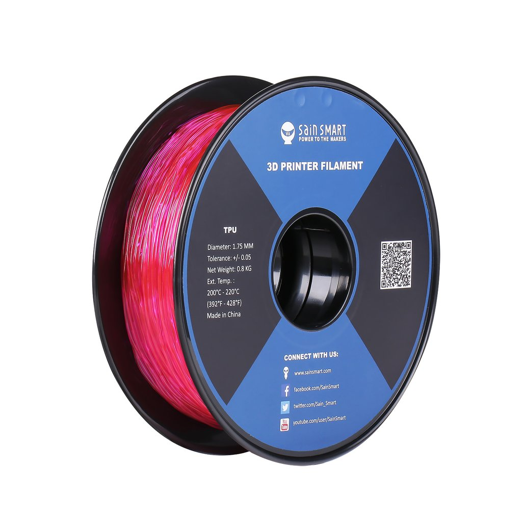 Sainsmart TPU Flexible Filament 1.75mm 0.8kg/1.76lb - Pink